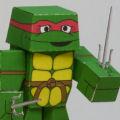 Papercraft imprimible y armable de las 4 Tortugas Ninja. Manualidades a Raudales.